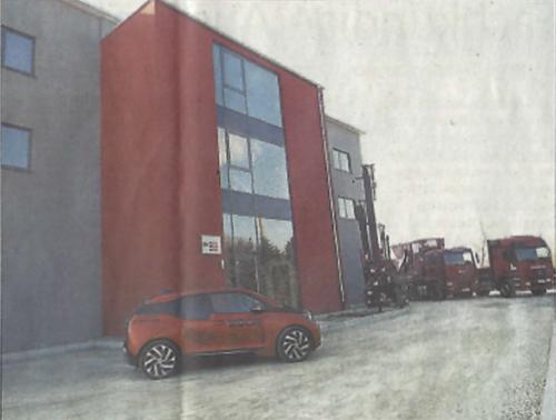 Das neue Gebäude der Firma
